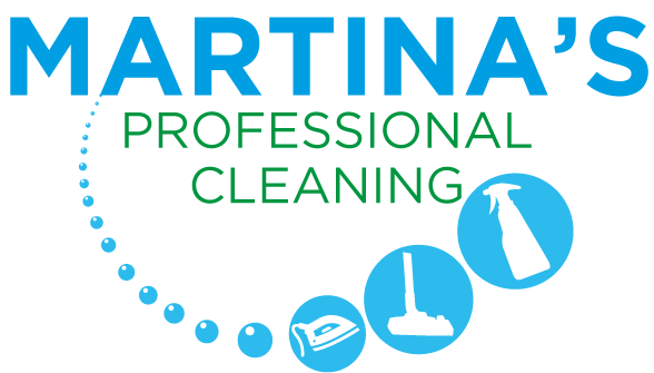 """Martina's Professional Cleaning"" Logo, cleaner in Melksham and Devizes"